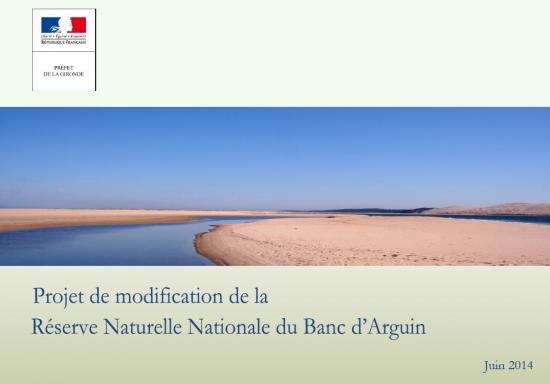 2014 juin projet modification RNN Banc Arguin-page en tete