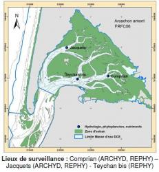 2018 ifremer hydrologie et phytoplancton lieux surveillance bassin